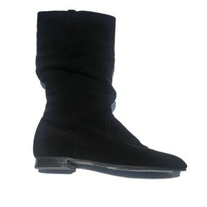 NWOT Un-Plugged suede slouch boots,black, size 8.5